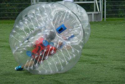 kinder bubbelvoetbal