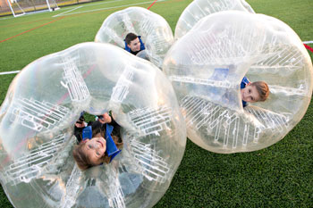 Kinderbubbelvoetbal